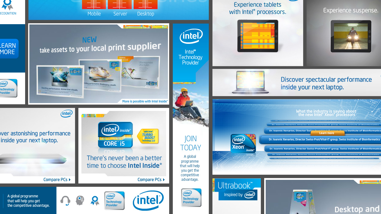 Intel Flash and Actionscript web banners